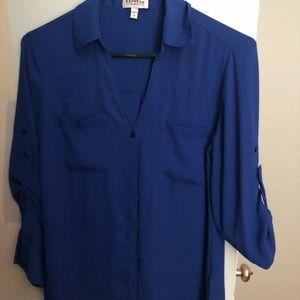 Express Portofino Shirt cobalt blue